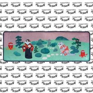 Japanese Cat Kimono Floor Mat D3