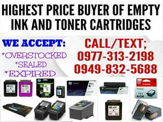 WEBUY EMPTY INK AND TONER CARTRIDGES