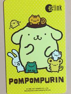 Limited Edition brand new Pompompurin Yellow Design ezlink Card For $9,
