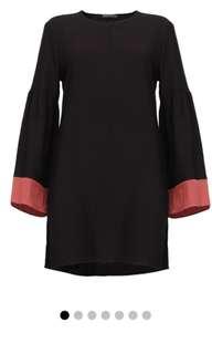 Poplook Valorie Colourblock Bell Sleeve Tunic XL