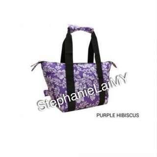 Jingle Jungle - Ezara 2 in 1 Convertible Cooler Bag (Purple Hibiscus)