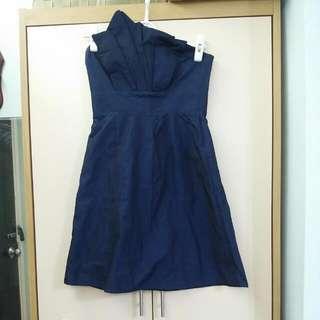 Party 寶藍色短裙