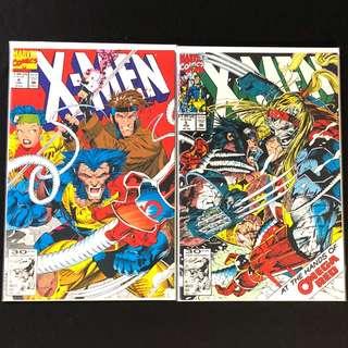 X-Men #4, #5. Jim Lee Art. Omega Red 1st Appearance
