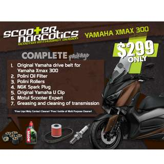 Complete Servicing Package for Yamaha XMax 300