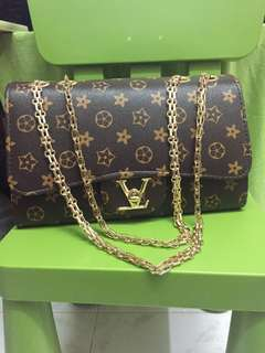 Lv bag style gold chain