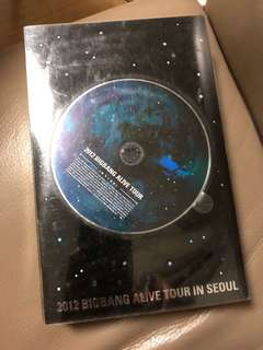 2012 Bigbang Alive Tour in Seoul DVD