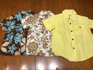 Bundle of Baby Gap Short Sleeve Button Down Shirts