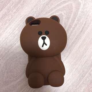 iPhone 4 Case brown 熊大 電話