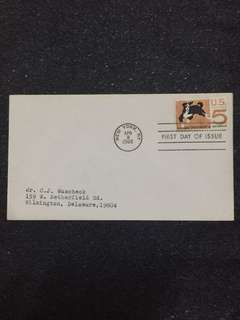 US 1966 Humane Treatment of Animals FDC stamp
