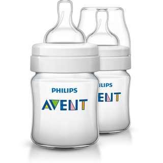 Avent Classic Plus Bottle 4oz / 125ml Twin Pack