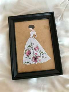 Lady Art design with frame