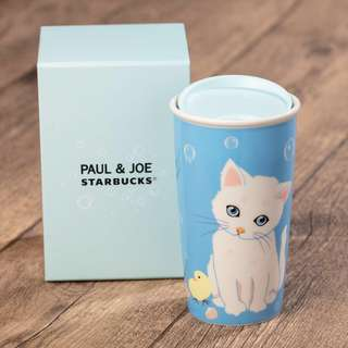 代購 Starbucks® X Paul & Joe 設計系列 - 12oz Iconic Kitten 雙層咖啡杯