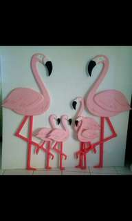 Flamingos for your Tropical Theme Party