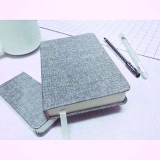 256 Pages A6 Linen Fabric Blank Notebook
