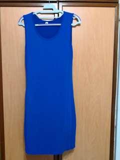 OL Blue Dress Skirt (Stretchable)