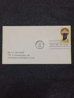 US 1966 Indiana Statehood FDC stamp