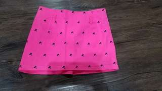 rok mini kucing warna pink fuchia