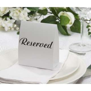 [Brand new in bag] Reserved Table Tent Card, Black/White, 12-Pack, for weddings, events