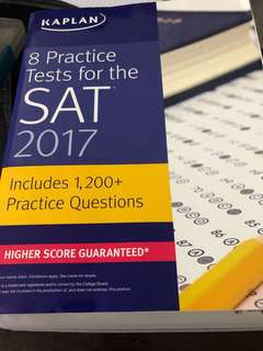 Kaplan 8 Practice Tests for the SAT 2017