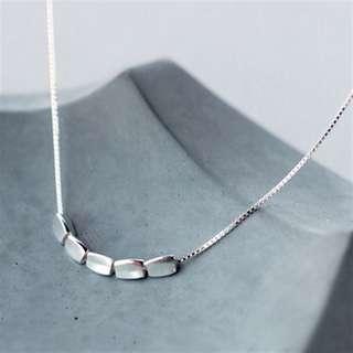 925 silver pebbles necklace