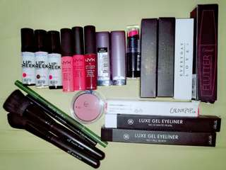 Free Shipping Best Ultimate Makeup Bundle Nyx, Colourpop, ELF, Wet n Wild, Detail Makeover, Everyday Love, Nature Republic Avon, Rire