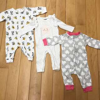 All for RM35 — Baby Girl Sleepsuits (3-6 mths)
