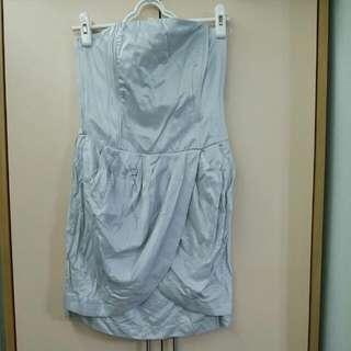 Party 銀灰色短裙