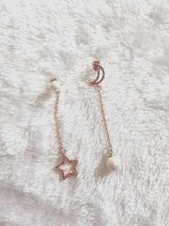 Kr Moon Star Jewel Earrings