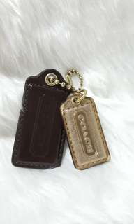 Auth Coach Hangtags Brown and Gold michael kors kate spade