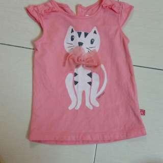 Miki baby pink cat top