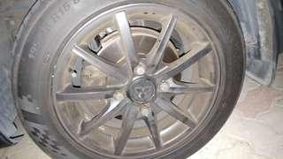 Lancer glx (cs3) brake kit, including brake pad