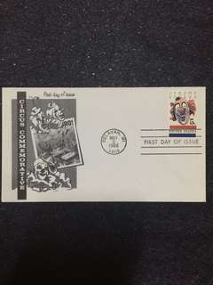 US 1966 American Circus FDC stamp