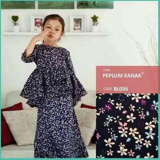 (KL) Cotton Peplum kids