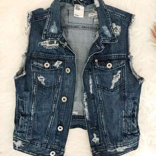 HNM Ripped Jean Vest