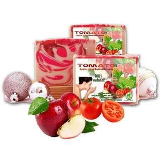 Tomato apple cider bentonite soap