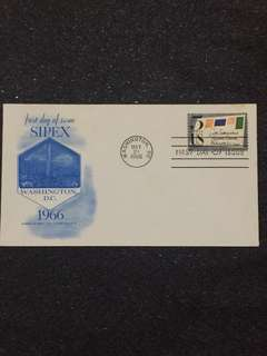 US 1966 SIPEX FDC stamp