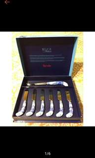 Spode Blue Italian Cheese Knife and Spreader Set