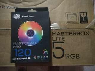 Masterbox lite 5 rgb, Masterfan Pro 120 RGB, Masterair MA410P