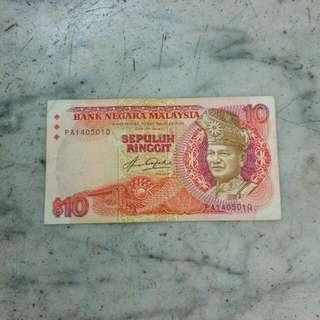 Malaysia Sepuluh Ringgit 10 Vintage 4
