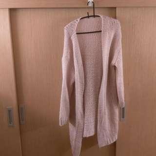 📌全新/暖暖杏色長版針織外套