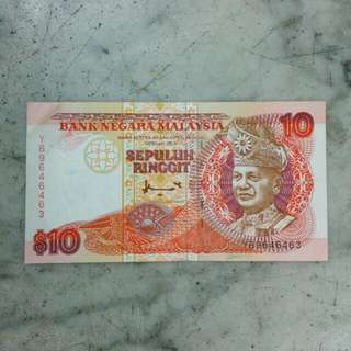 Malaysia Sepuluh Ringgit 10 Vintage 7