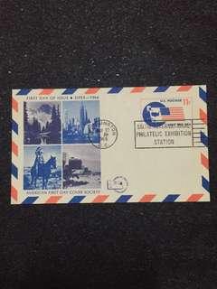 US 1966 SIPEX Postal Card FDC