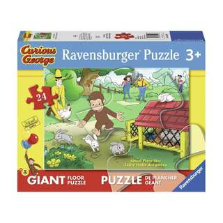 PRE-ORDER: Ravensburger Curious George: Fun Giant Floor Puzzle (24 Piece)