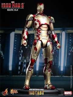 全新 啡盒未開 Hot Toys Iron man 3 Diecast Mark XLII (MMS197D02)