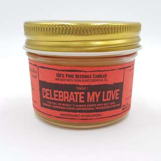 Essential Oil Beeswax Candle - Celebrate My Love