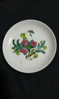 Old small flower logo plate