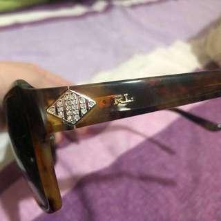Ralph Lauren Sunglasses RL polo全新茶色玳瑁鏡框閃石太陽眼鏡🕶️