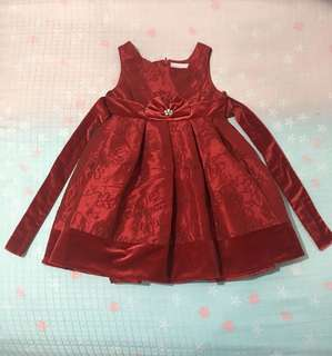 Baby Girls Red Gown