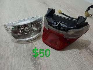 Rxz caty head light and tail light..fix price..