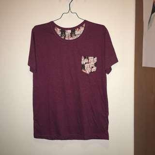 Lucky Cat Shirt Maroon